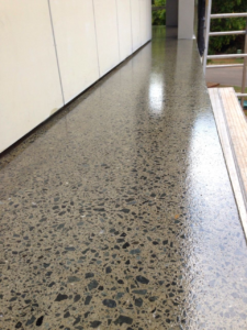 Grind and seal concrete floors